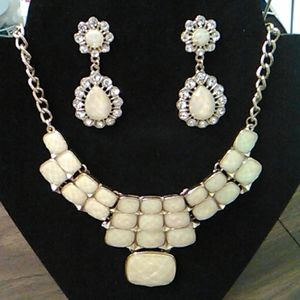 Elegant Necklace and Earrings.